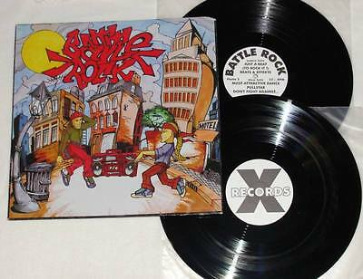 BATTLE ROCK 2LP Vinyl X-Records 1996 Hip-Hop DJ Marius B-Base * RARE
