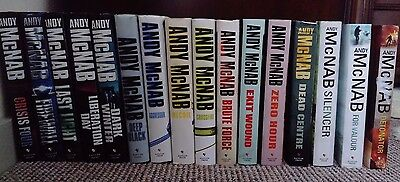 Andy McNab Nick Stone Complete Set of 17 Hardback Books - Some Signed!