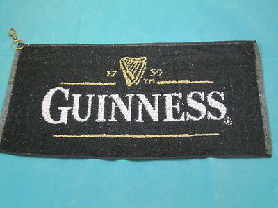 New Guinness golf towel - 48 x 23 cms - clips to golf bag
