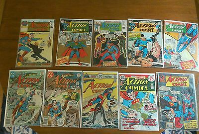 Comic book lot silver age and bronze, Action Comics, Superman