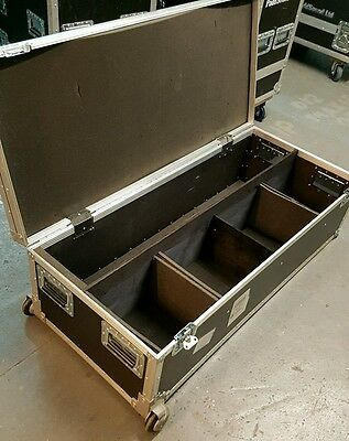 Custom International Flightcase with wheels and partitions for cables or lights