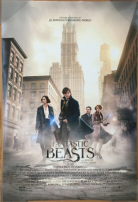 FANTASTIC BEASTS AND WHERE TO FIND THEM MOVIE POSTER DS ORIGINAL FINAL 27x40