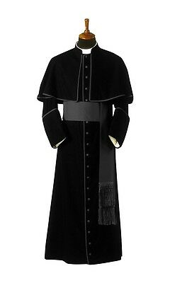 cassock with attached shoulder cape / priest clergy cassock