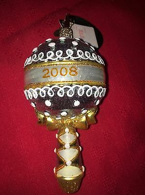NWT CHRISTOPHER RADKO Holiday Shake Up New Baby Rattle 2008 Ornament
