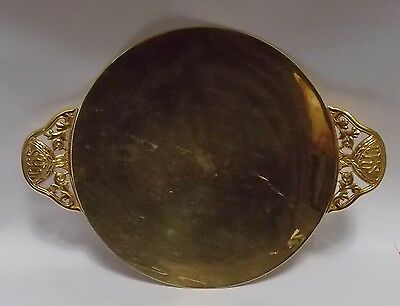 Great Vintage Gilt Paten With Makers Marks