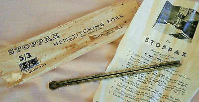Vintage Sewing Machine Accessory: Stoppax Hemstitching Fork & Instructions