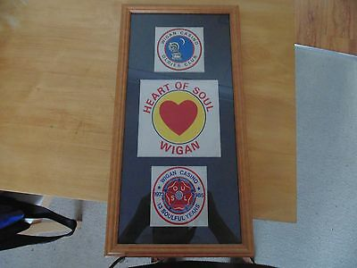 Framed wigan casino northern soul patches