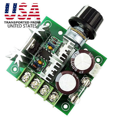 DC 12V 24V 36V 10A PWM Motor Speed Controller Speed Control Module Switch