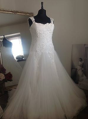 MAGGIE SOTTERO WEDDING DRESS WHITE FIT Size 14-16 NEW SAMPLE