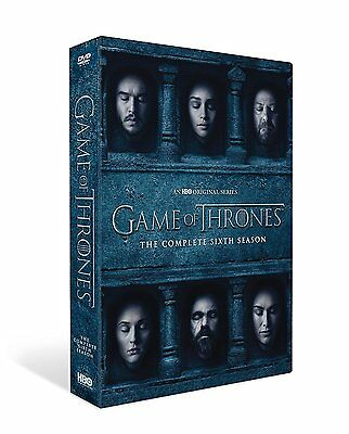Brand New Game Of Thrones Season 6 Complete Dvd Box Set Region 2 Free P&p