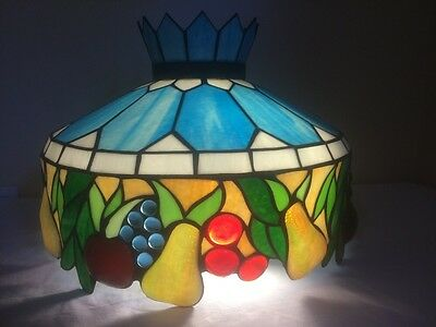 Acrylic Hanging Light Fruit Stained Glass Look Grapes Apples Pears