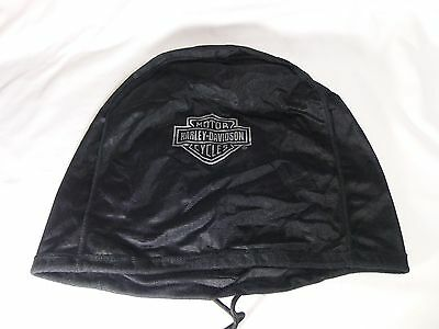 Harley Davidson Black Draw String Helmet Bag Mildly Used Nice Small Logo