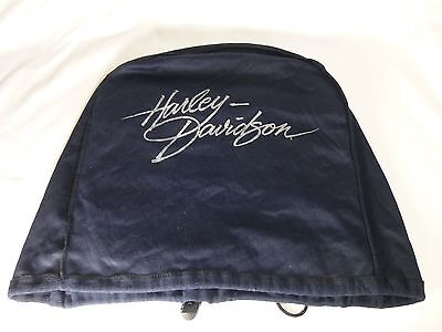 Harley Davidson Blue Draw String Helmet Bag Mildly Used Nice Condition