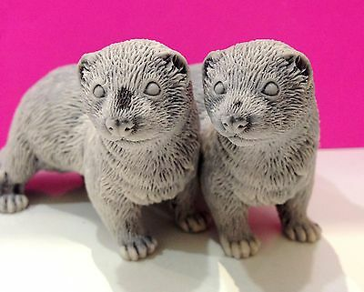Ferrets figurines marble chips  Souvenirs from Russia excellent quality