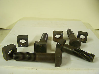 """3/4-10"""" x 3"""" and 3 1/2"""" Square Head Machine Bolts w/Square Nuts PS 2 Each=Qty.4"""
