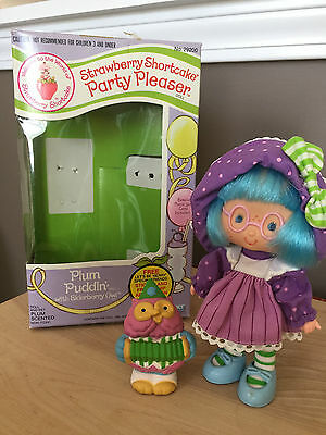 RARE Vintage NIB Strawberry Shortcake's Party Pleaser Plum Puddin Elderberry Owl