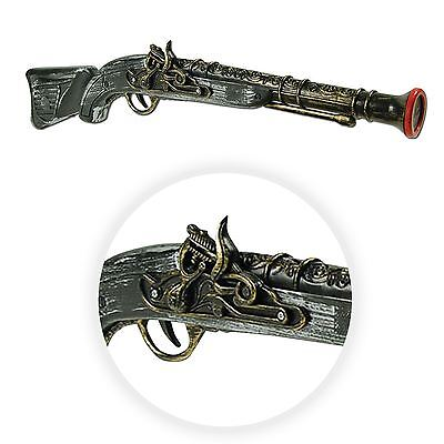 Steampunk Grey Brown Pirate Pistol Long Gun 49cm LARP Plastic Gothic Victorian