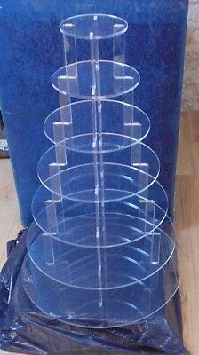 7 tier clear acrylic cupcake stand