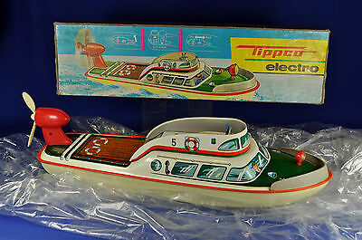 Tippco TCO Batterie Polizeiboot Nr. 5 / Battery Police Boat No. 5, 1960er / -ies