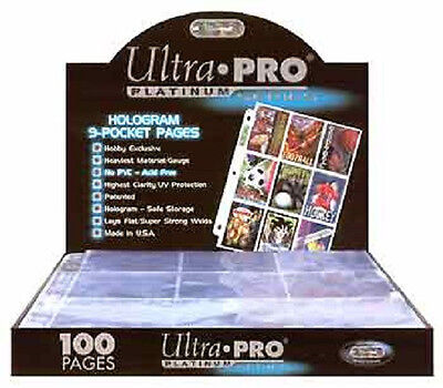50 ULTRA PRO PLATINUM 9-POCKET Pages Sheets Protectors Brand New