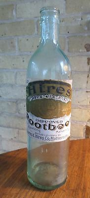 Hires Rootbeer Bottle with Paper Label