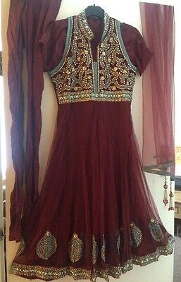 ladies anarkali churidaar size Small