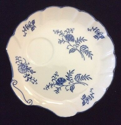 Vintage BLUE DRESDEN Shell Shaped Snack Plate Sphinx Import
