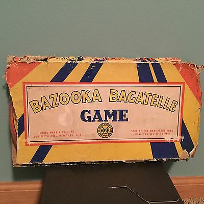 BAZOOKA BAGATELLE vintage pinball game by Marx in ORIGINAL BOX