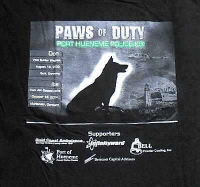 PORT HUENEME Police Department K9 K-9 So Cal PAWS OF DUTY canine shirt
