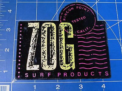 vtg 80's Zog Surf Products Surf sticker Rincon point tested