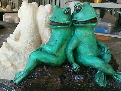 The Frogs LARGE MOLD for plaster or concrete LATEX ONLY