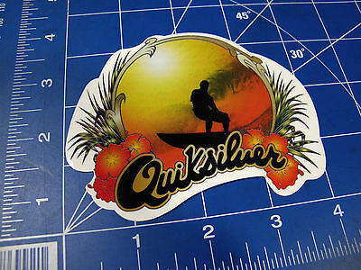 new Quiksilver Surf sticker retro silhouette sunset