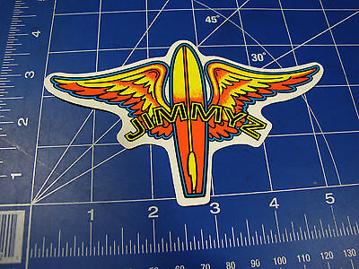vtg. RARE* 1980's Jimmy'z Surf sticker orange board and wings