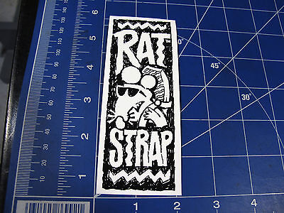 vtg RARE* 1980's Rat Strap surf sticker scribble drawing