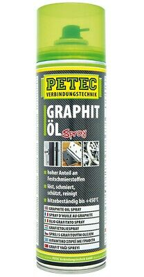 Petec Graphitöl Spray 500 ml Schmiermittel  Graphit Öl