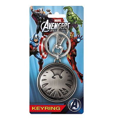 Marvel Official Avengers Agents of SHIELD Logo Pewter Keyring
