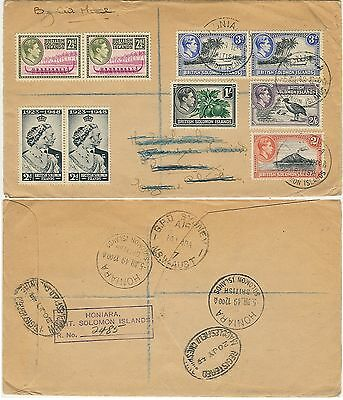 SOLOMON ISLES 1951 reg.cov. 9 sts.from def.set, incl.2/- & 2/6, v.f.
