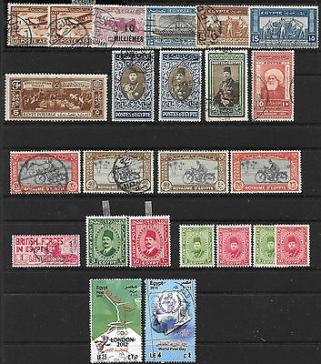 EGYPT 1926 onwards, stamps in interesting small collection