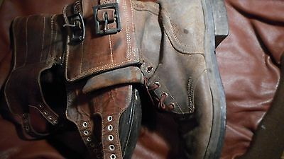 WWII WW2  Double Buckle Combat Boots Size 10A
