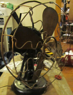 Antique Western Electric Brass Blade Cage Fan Hawthorne Fom. Victor Circa 1910