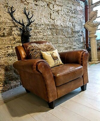 204 leather armchair chesterfield distressed vintage tan brown sofa available