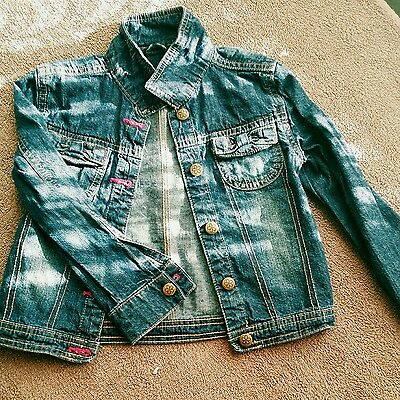 girl denim jacket 5-6 years vgc from george