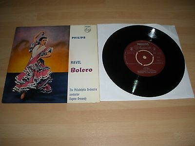 "Ravel Bolero 7"" Vinyl Card P/s Eugene Ormandy Phillips Abe.10036 Ex """