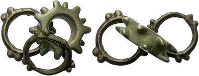 FORVM Celtic Ring Money 3 Rings One a Rare Type with 2 Rows of 6 Spikes