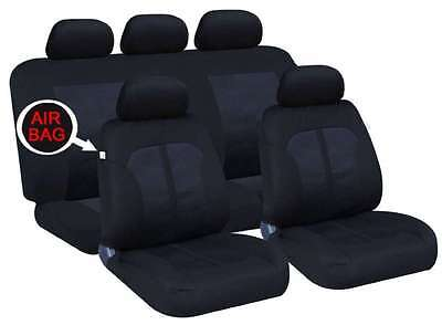 Mercedes A-Class Crawley Black/Navy Padded 9 Piece Front / Rear Seat Covers
