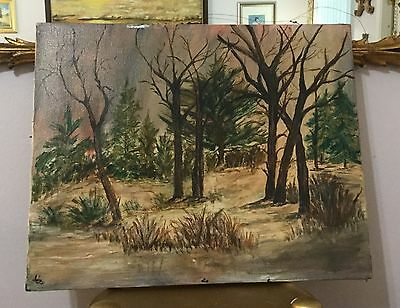 """Hudson River school Signed Painting-19th C. 16""""x20"""""""