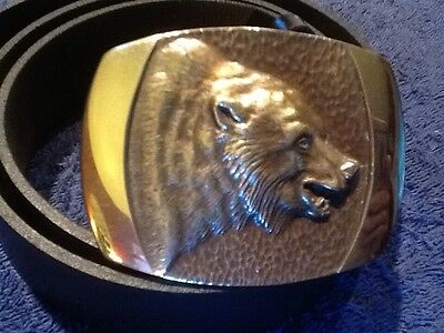 Grizzly Solid Bronze Buckle