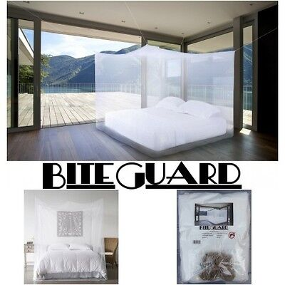 Mosquito net double king size rectangular 4 post bed travel holiday accessories