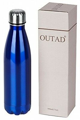 OUTAD Ultimate Vacuum Insulated, Double Walled Stainless Steel Water Bottle Blue