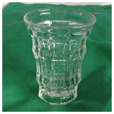 Vintage Clear Pressed Glass Small Vase, Jacobean Style, Reg'd